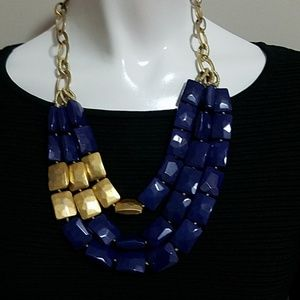 Jewelry - Blue & Gold Multilayer Necklace